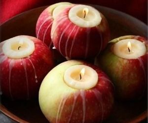 apple, candle, and diy image