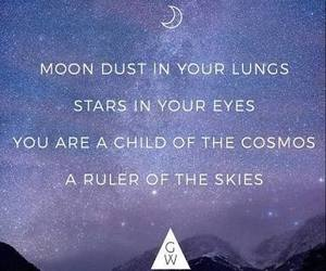 moon, quotes, and sky image