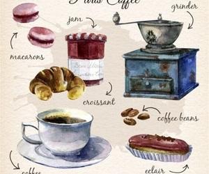 art, boho, and coffee image