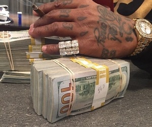 money, tattoo, and gold image