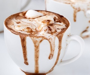 drink, hot chocolate, and food image