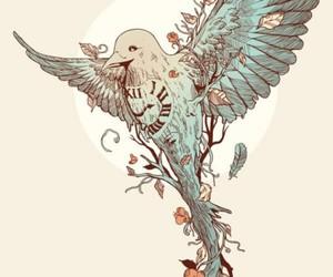 bird, art, and time image
