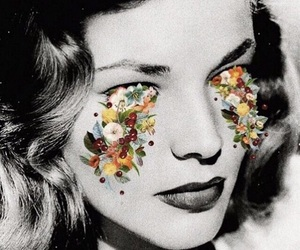 Lauren Bacall, black and white, and actress image