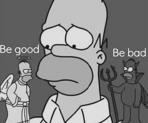 black and white and homer image