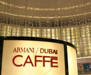 Armani, cafe, and Dubai image