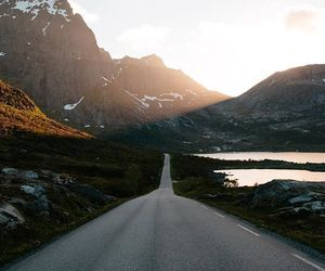 mountains and road image