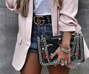 bag, belt, and blazer image