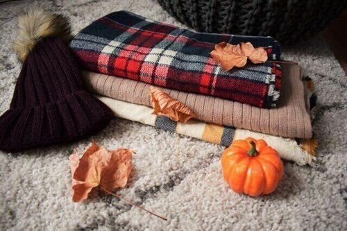 fall, autumn, and blanket image