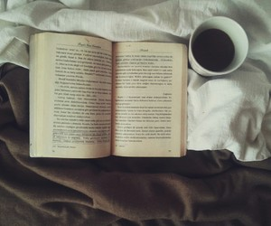 book, books, and coffe image