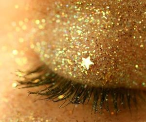 beauty, gold, and eye makeup image