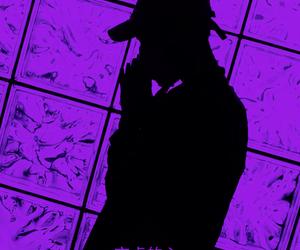 boy, purple, and shadow image