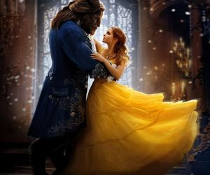 beauty and the beast, disney, and love image