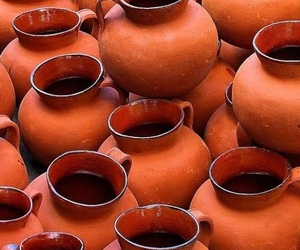 colors, orange, and pottery image