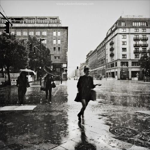 rain, girl, and city image