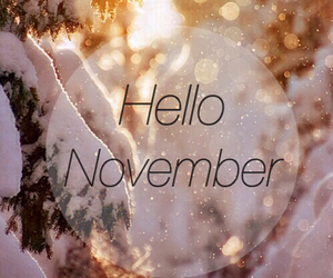 november, hello, and snow image