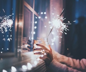 dark, photography, and sparkler image