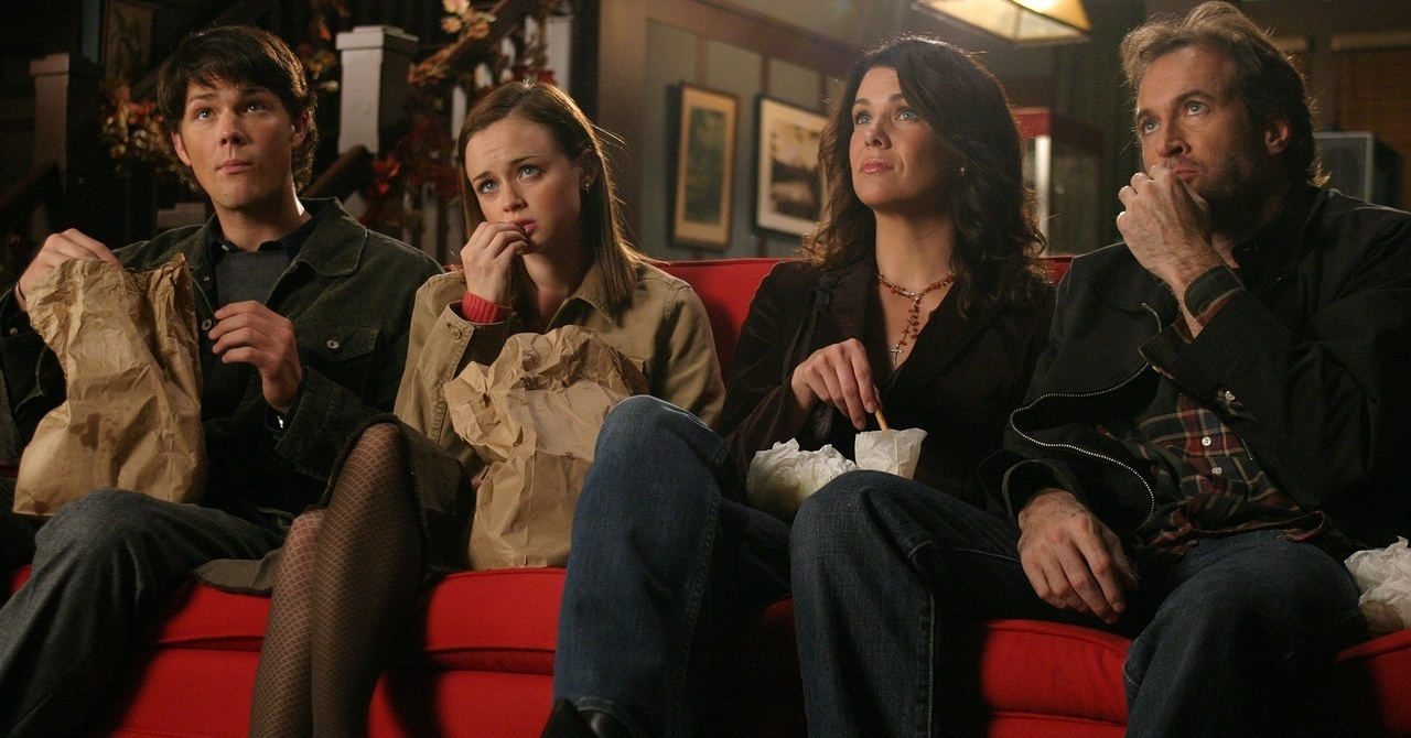 dean, gilmore, and gilmore girls image