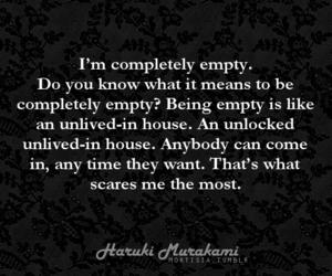 black and white, haruki murakami, and quotes image