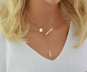 etsy, delicate necklace, and minimal necklace image