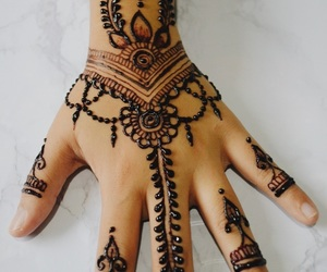 black, marble, and henna image