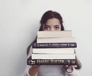 bibliophile, books, and brunette image