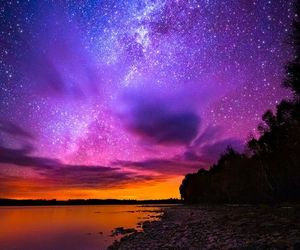 stars, sky, and sunset image