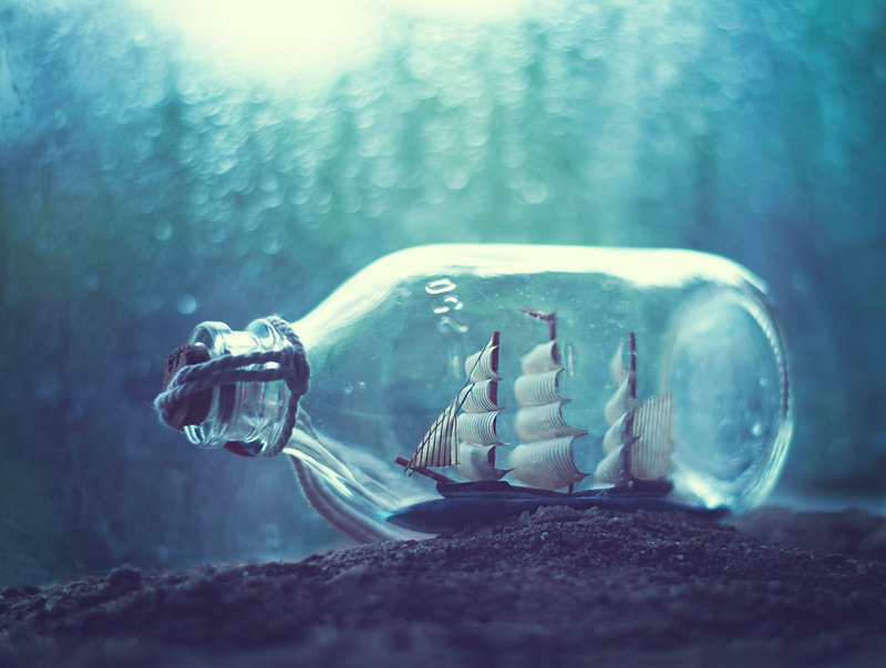 bottle, ship, and boat image