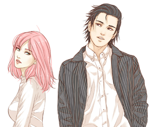 anime, sasusaku, and naruto image