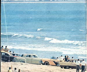 beach, vintage, and car image