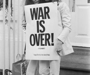 john lennon, peace, and war image