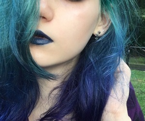 colour, dark, and makeup image