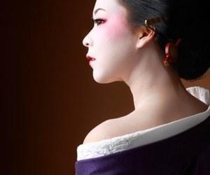 geisha, japan, and purple image