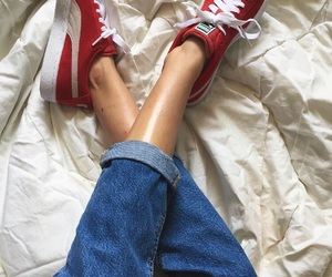 fashion, puma, and red image