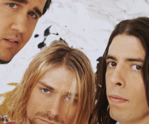 dave grohl, krist novoselic, and kurt cobain image
