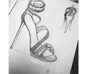 design, drawing, and sandal image