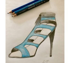 drawings, shoe drawings, and fashion image