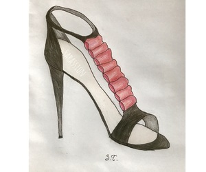 drawings, fashion, and shoes image