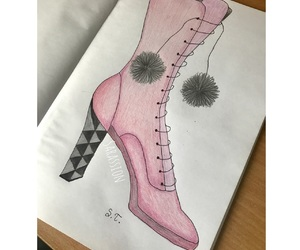 boots, drawings, and shoe drawings image