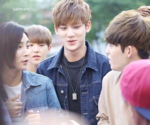 boy, Chan, and dino image