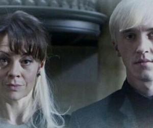 draco malfoy, narcisa malfoy, and harry potter image