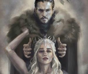 Jon, daenerys, and king image