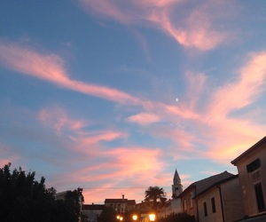 clouds, Croatia, and pink image