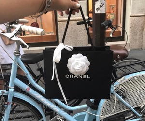 black, chanel, and italy image