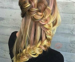 hairstyle, pink, and yellow image