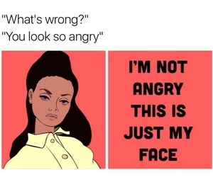 face, angry, and funny image