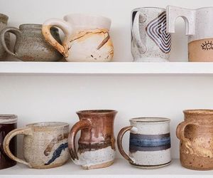 art, cups, and fall image