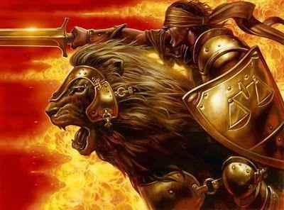 god and lion image