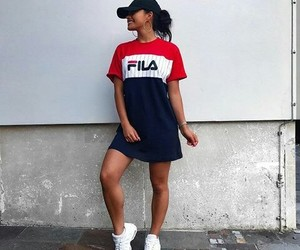 fashion, dress, and Fila image