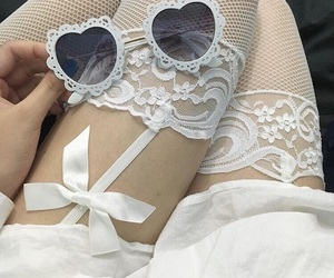 white, girly, and lace image