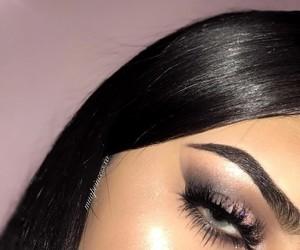 dress, eye makeup, and makeup artist image